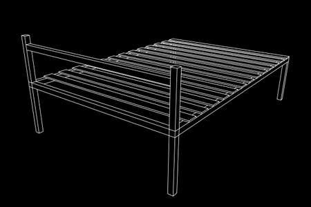 Base orthopedic bed illustration on plain background