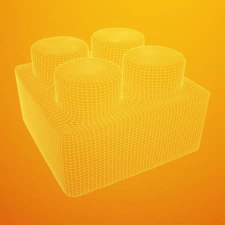 Constructor element vector illustration on plain background