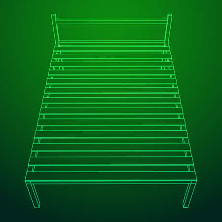 Base orthopedic bed. Vectores