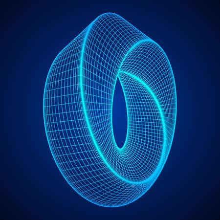 Mobius strip ring sacred geometry