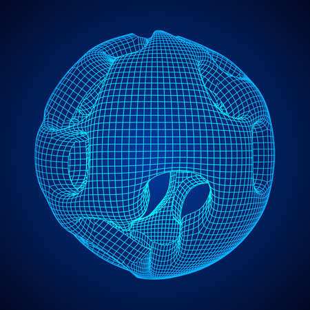 Abstract vector wire frame sphere.