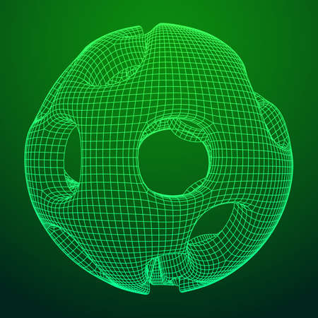 Abstract vector wireframe sphere