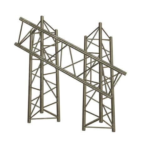 Metal truss girder element