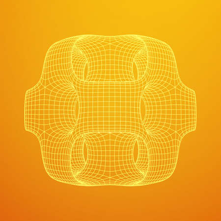 Wireframe Ported Cube