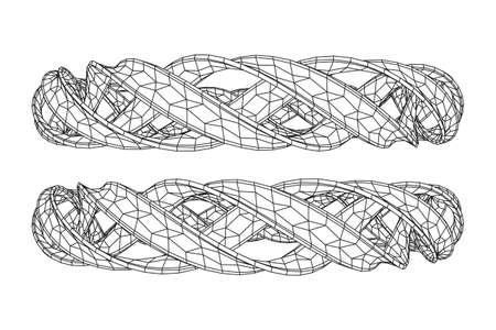 Wireframe mesh ring 向量圖像