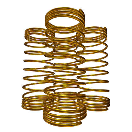Gold spring 3d