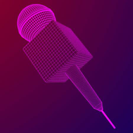 Microphone vector. News illustration.
