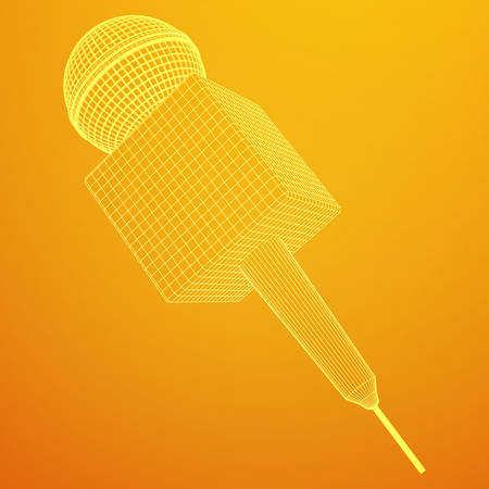 Microphone vector. News illustration.