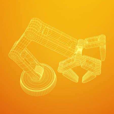 Robotic arm vector Illustration