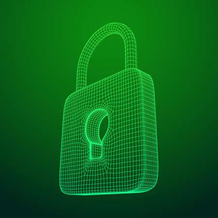 Padlock cyber security concept Stock Photo