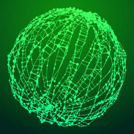 Wireframe Mesh Sphere.