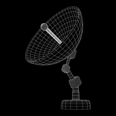 satellite dish wireframe vector Standard-Bild - 103925378