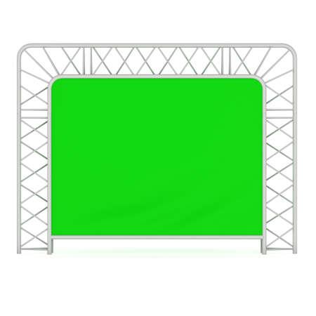 Steel truss girder element banner construction