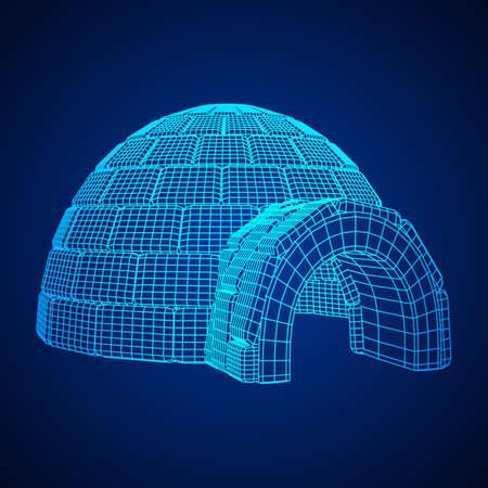 Igloo icehouse vector