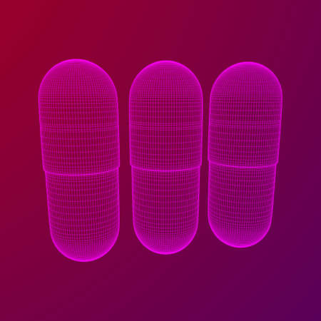 Medical capsule pill Illustration