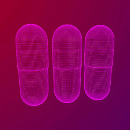 Medical capsule pill 矢量图像