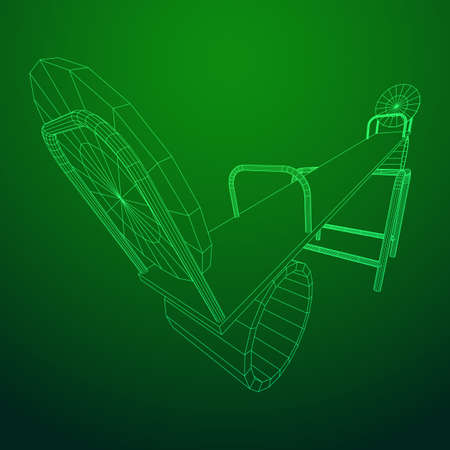 Swing on the playground vector. Seesaw or wooden balance scale. Wireframe low poly mesh vector illustration Stock Vector - 111830350