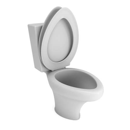 Toilet bowl 3d render isolated on white background