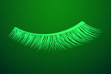 False eyelashes. Mascara decorative element vector illustration