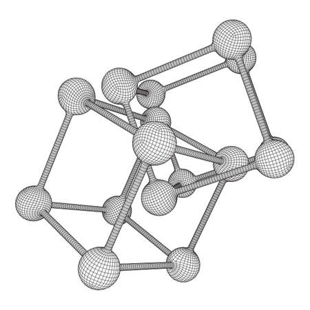 Wireframe Mesh Molecule Grid. Connection Structure. Low poly vector illustration. Science and medical healthcare concept Standard-Bild - 114457563
