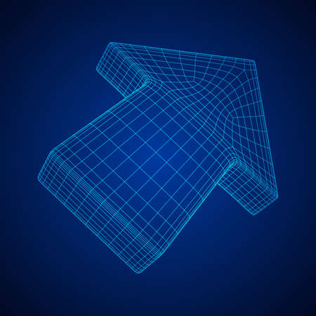 Arrow wireframe low poly mesh vector illustration Stock Vector - 125428443