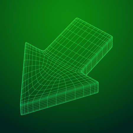 Arrow wireframe low poly mesh vector illustration Stock Vector - 125260114