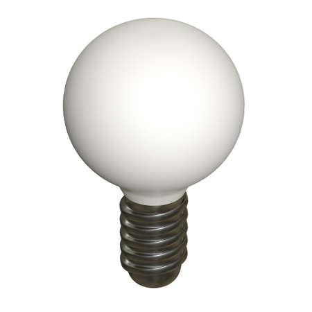 Lamp bulb. Business idea. 3d render illustration isolated on white background. Banco de Imagens