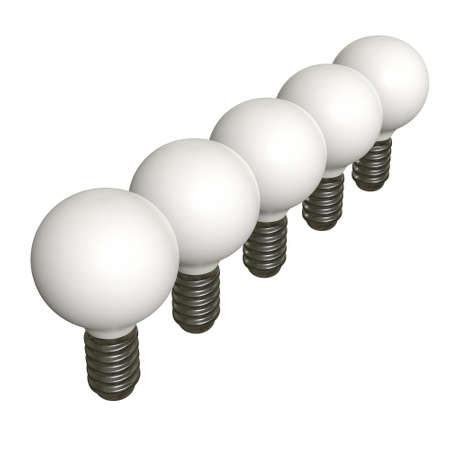 Lamp bulb. Business idea. 3d render illustration isolated on white background.