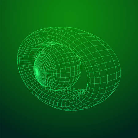 Abstract polygonal human eye sign. Digital vision, security technology and surveillance concept. Wireframe low poly mesh vector illustration  イラスト・ベクター素材