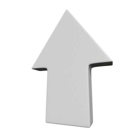 Arrow sign object 3d render illustration isolated on white background Stok Fotoğraf