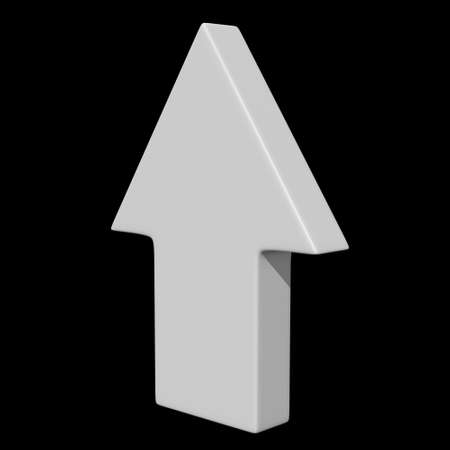 Arrow sign object 3d render illustration on black background Zdjęcie Seryjne