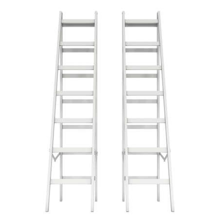 Step ladder. 3d render isolated on white 版權商用圖片 - 134825295