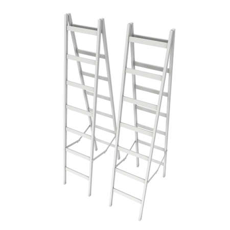 Step ladder. 3d render isolated on white