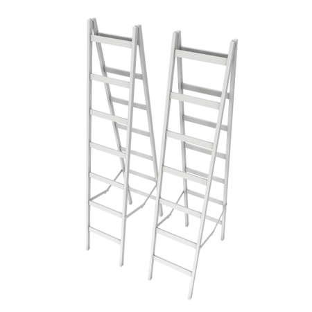 Step ladder. 3d render isolated on white 版權商用圖片 - 134825296