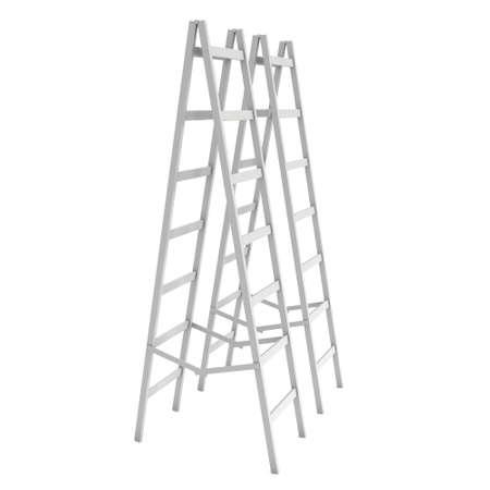 Step ladder. 3d render isolated on white