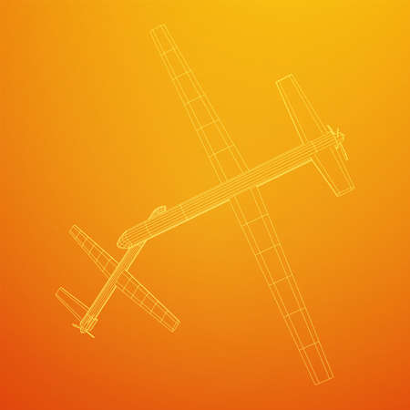 Military drone combat unmanned aerial vehicle. Recon aircraft plane