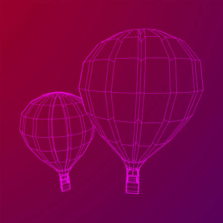 Airballoon design airway travel transport. Air ship with cabin