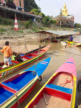 long tailed boat: Long-tailed boat, Thailand Stock Photo