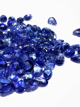 blue: Blue Sapphires, Gemstones Stock Photo