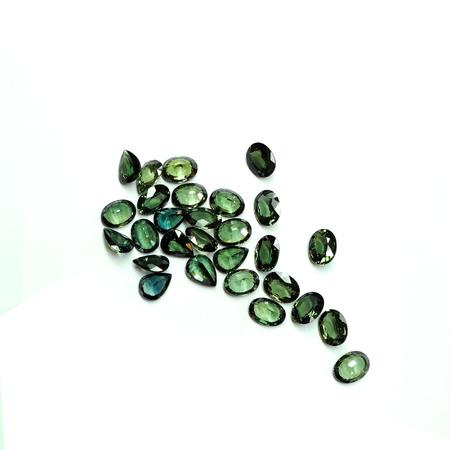 zafiro: zafiro verde Foto de archivo
