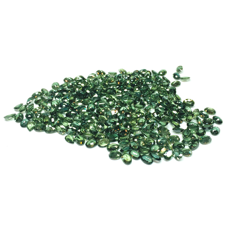 sapphire: zafiro verde Foto de archivo