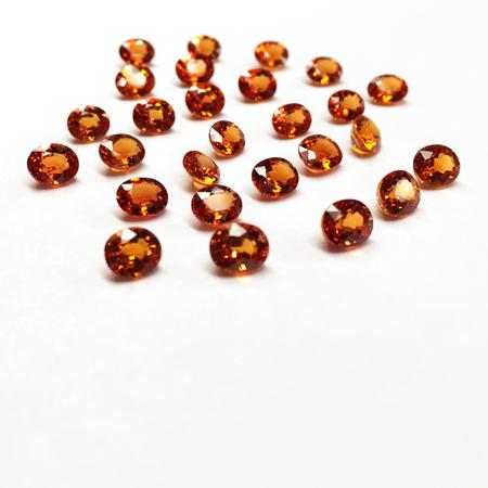 sapphire: Orange Sapphire Stock Photo