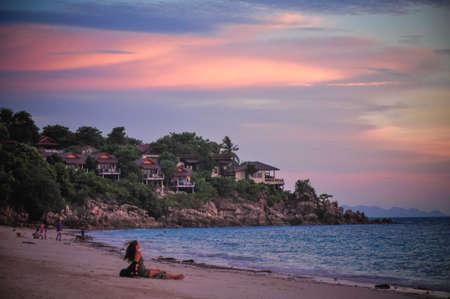 phangan: Sunset over Had Yao, Ko Phangan, Thailand