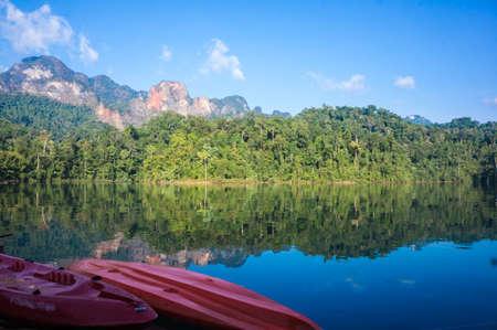 cayak:  Guilin Thailand paradise dam ,surat thani,thailand