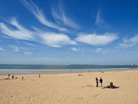 Afternoon on the beach, Pornichet, France.