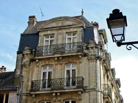 Old part of Rouen, France Standard-Bild