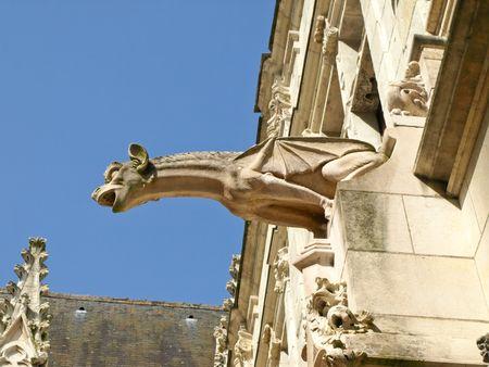 Gargoyle on Tour cathedral, France