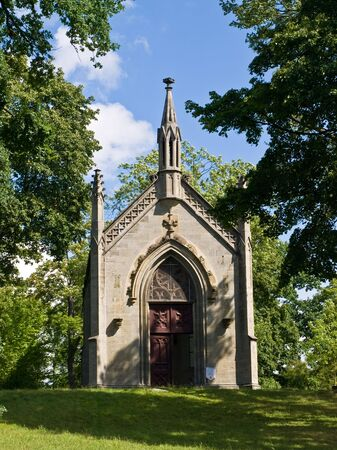 exactitude: Chapel in the park in small deutch town
