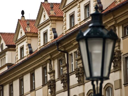 praha: Street and lamp in old center of Praha