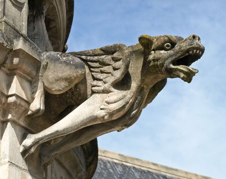 terrible: Terrible gargoyle on a cathedral in France